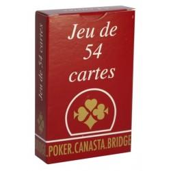 LA GAULOISE - JEU DE 54 CARTES DOS ROUGE