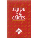 CARTAMUNIDI - JEU DE 54 CARTES SUPERFINES DOS ROUGE