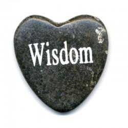 COEUR EN MARBRE PORTE-BONHEUR WISDOM (SAGESSE)