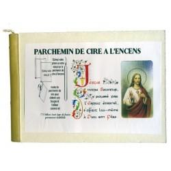 JESUS - PARCHEMIN DE CIRE A L'ENCENS