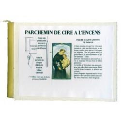 SAINT ANTOINE DE PADOUE - PARCHEMIN DE CIRE A L'ENCENS