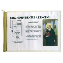SAINT BENOIT - PARCHEMIN DE CIRE A L'ENCENS