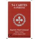 GRIMAUD - JEU DE 54 CARTES SUPERFINES DOS ROUGE