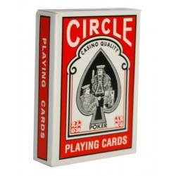 CIRCLE POKER - JEU DE 54 CARTES DOS BLEU OU ROUGE