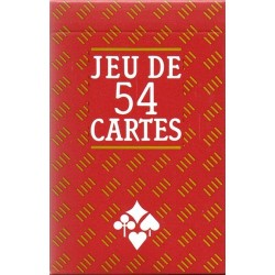 CARTAMUNIDI - JEU DE 54 CARTES SUPERFINES DOS ROUGE