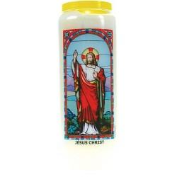 JESUS CHRIST - BOUGIE NEUVAINE VITRAIL