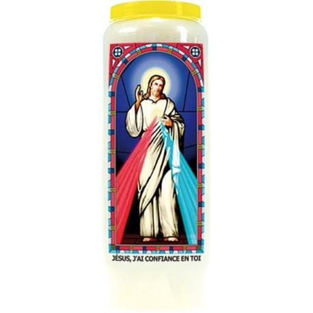 JESUS, J'AI CONFIANCE EN TOI - BOUGIE NEUVAINE VITRAIL