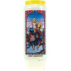 SAINT CHRISTOPHE - BOUGIE NEUVAINE VITRAIL