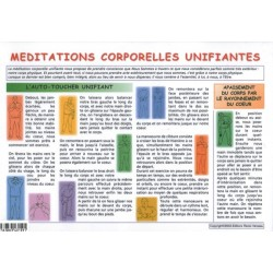 MEDITATIONS CORPORELLES UNIFIANTES - PLANCHE 21 X 30 CM