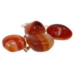 PENDENTIF AGATE ROUGE - MM