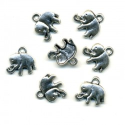 BRELOQUE CHARM - ELEPHANT - PETIT MODELE - LE LOT DE 2 PIECES