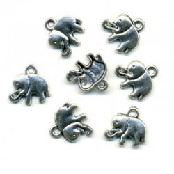 BRELOQUE CHARM ELEPHANT - PETIT MODELE - LE LOT DE 2 PIECES