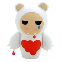 MOMIJI THE I DONT CARE BEAR POUPEE JAPONAISE KOKESHI