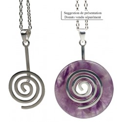 PORTE PI CHINOIS - DONUT SPIRALE METAL ARGENTE