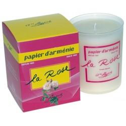 BOUGIE PAPIER D'ARMENIE - LA ROSE