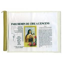 PRIERE A SAINTE THERESE - PARCHEMIN DE CIRE A L'ENCENS