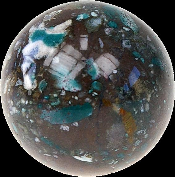 Sphère boule de massage en Jaspe fantaisie